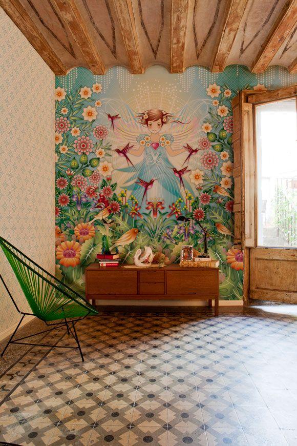 Catalina Estradas Tapete wohnen Pinterest Wandgestaltung - schöner wohnen tapeten wohnzimmer