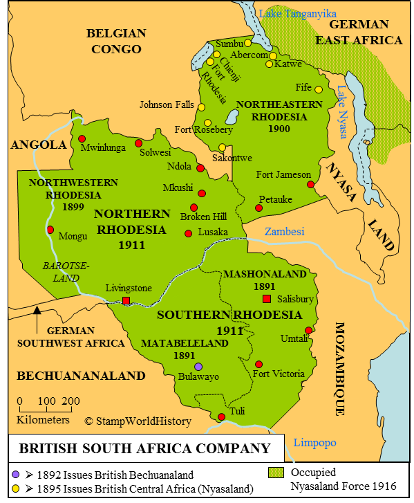 Southwest Africa Map.British South Africa Cy Map Zimbabwe Pinterest South Africa