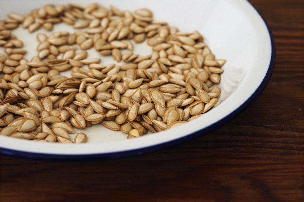 Pumpkin seeds. That bit in the middle of this fine Autumn and Winter food. So good! Save them, eat them, plant them. Here's how to do it.
