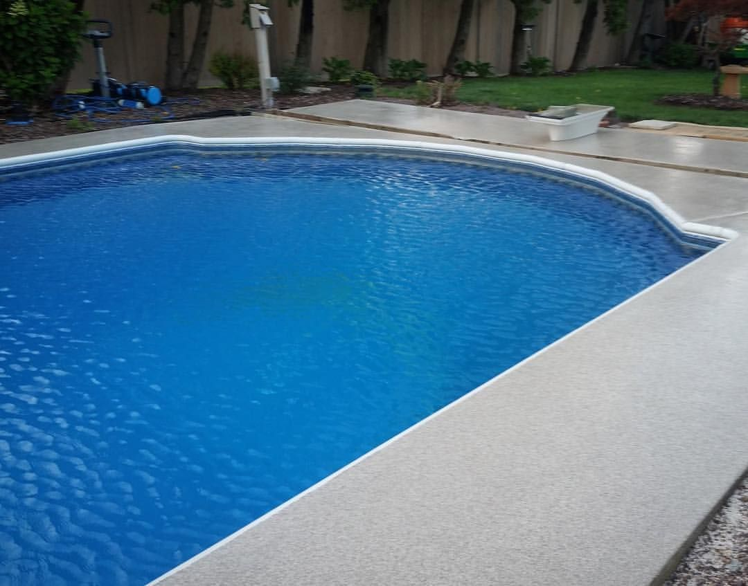 Decorative Pool Deck Resurfacing By Courtim Coatings Pooldeck Swimmingpool Southbendin Southbend Indi Concrete Decor Concrete Coatings Pool Decor