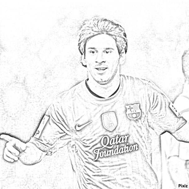 Messi Coloring Pages Ausmalen Ausmalbilder Bilder
