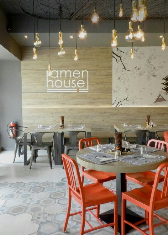 Ramen house japanese restaurant interior design by