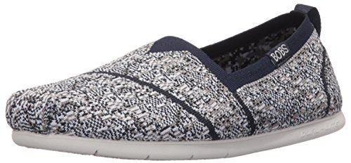 BOBS from Skechers Womens Plush Lite Tailor Made Flat NavyGray Knit 95 M US -- To view further for this item, visit the image link. Note:It is Affiliate Link to Amazon.