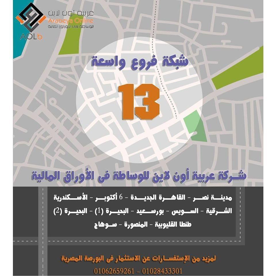 تداولالان و استثمرفى البورصة المصريةمن خلال شركة عربية اون لاينللوساطة فى الاوراق الماليةوحصل على المزايا التالية اول شركة تداول Pie Chart Map Screenshot Map