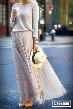 En Moda 15 Uzun Etek Modelleri