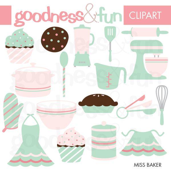 Miss Baker Pastel Vintage Clipart