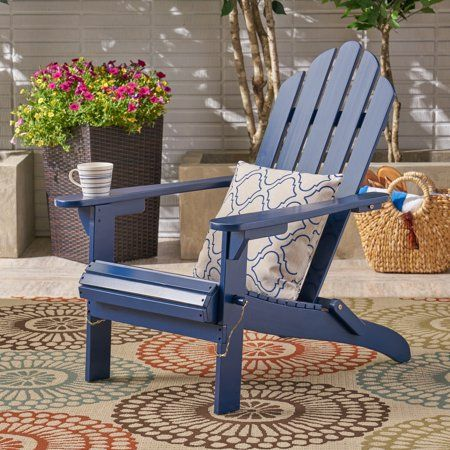 Patio Garden Wood Adirondack Chairs Small Outdoor Spaces Outdoor