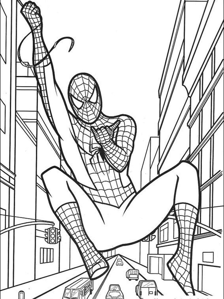Spiderman Coloring Pages Easy Following This Is Our Collection Of Spiderman Coloring Page You Are In 2020 Superhero Coloring Pages Coloring Pages Spiderman Coloring