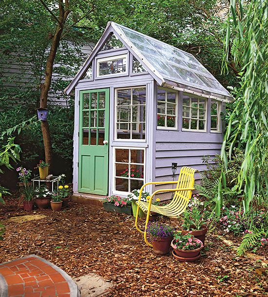 Potting Sheds and Greenhouses Window, Backyard and Gardens