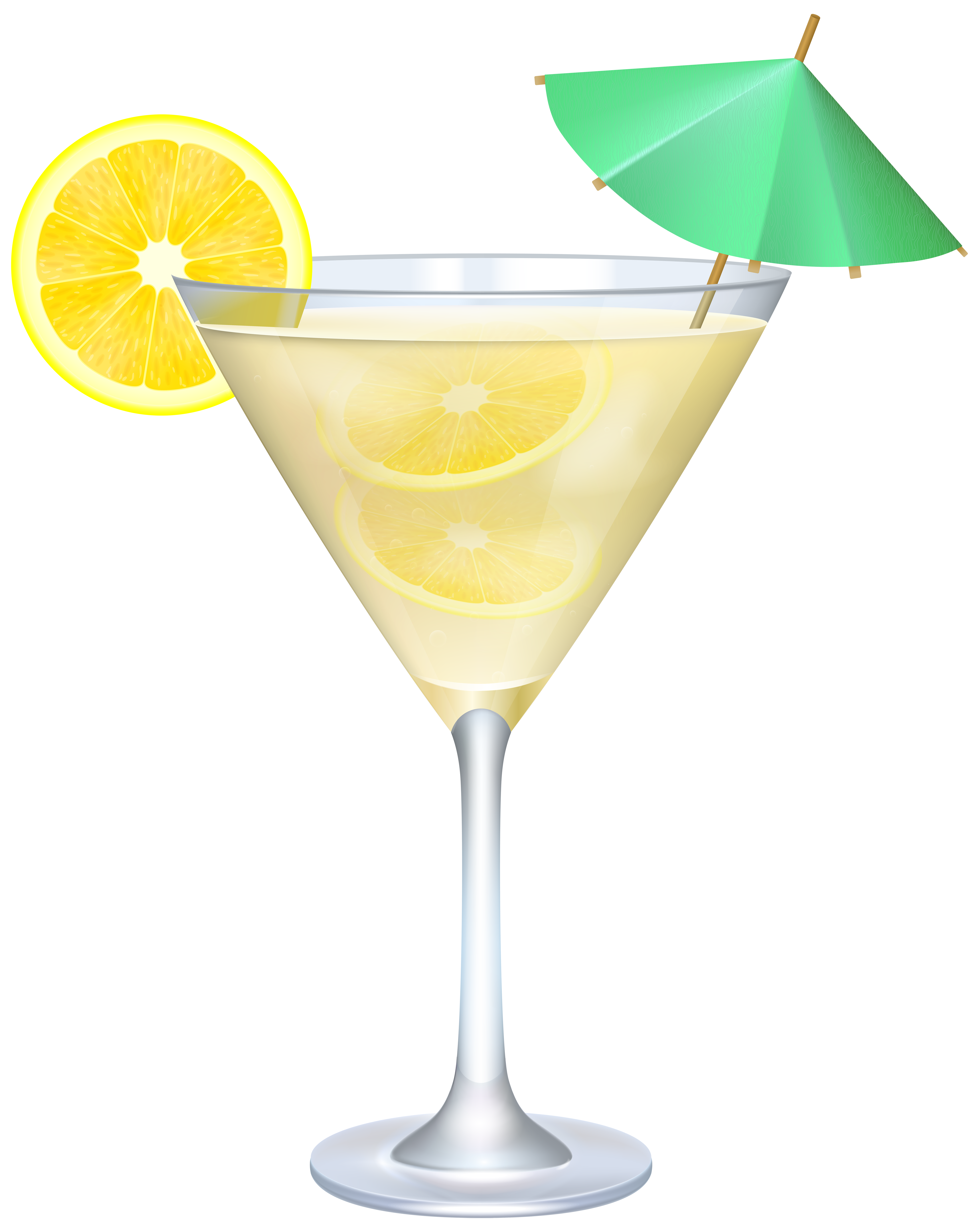 Cocktail With Lemon And Umbrella Png Clip Art Image Clip Art Cocktail Umbrellas Art Images