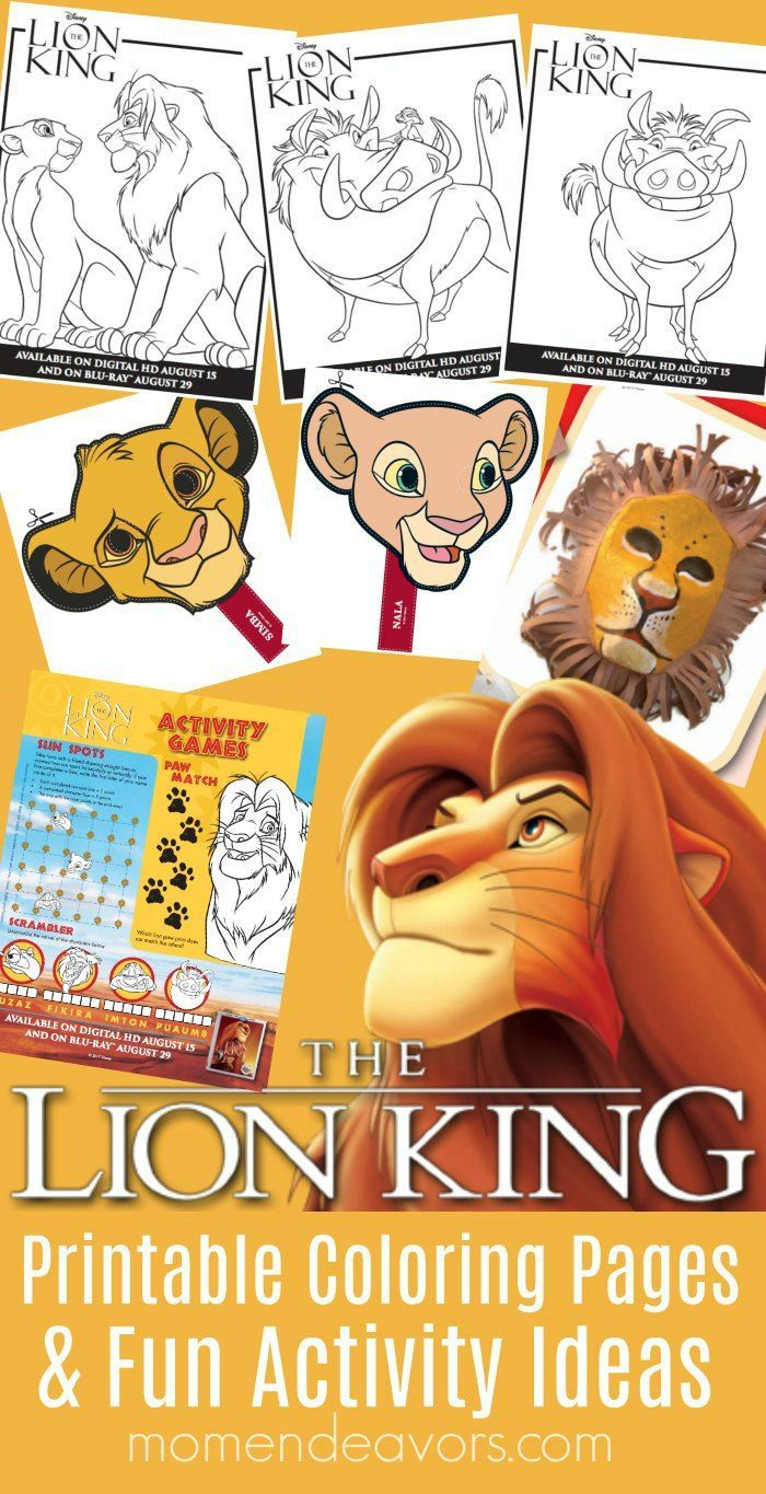 Awesome disney the lion king printable activities u coloring pages