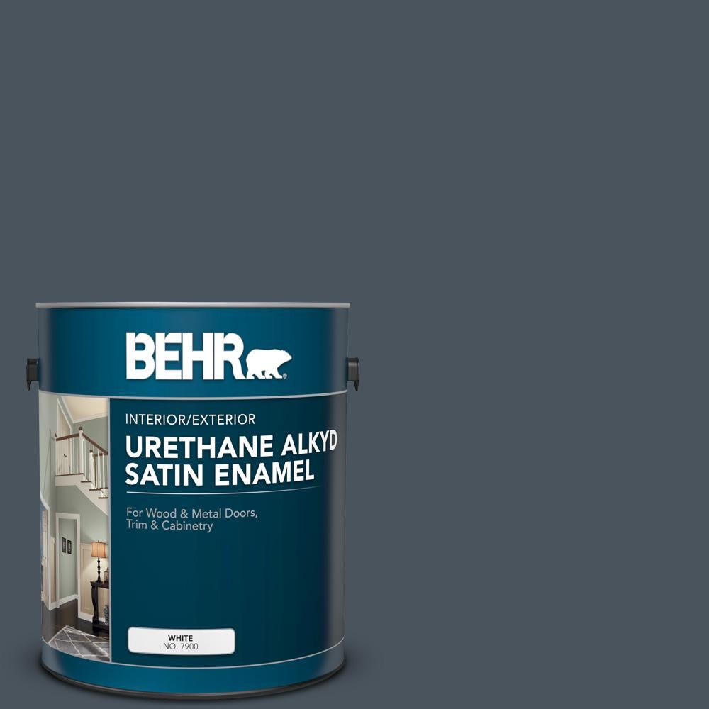 BEHR 1 Gal. #N480-7 Midnight Blue Urethane Alkyd Satin
