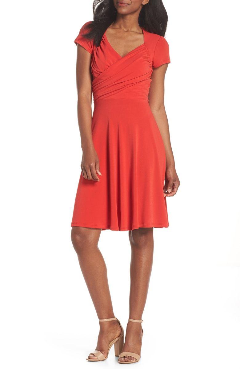 14a5dc367b5 Print Jersey Fit   Flare Dress