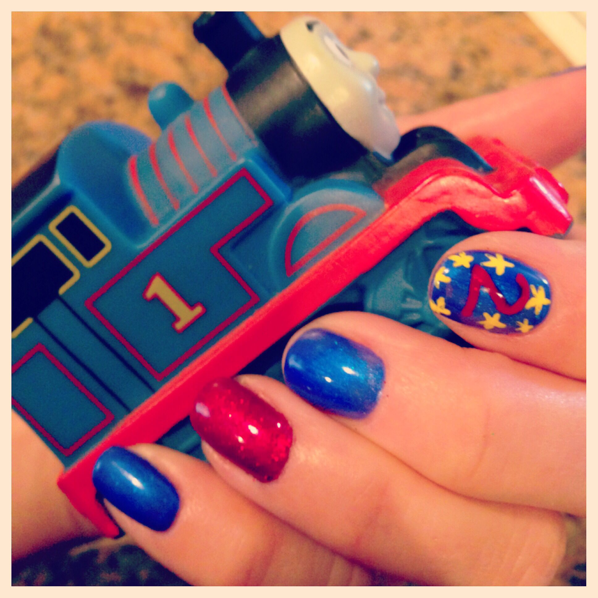 Thomas The Train Gel Nails Nails Ive Done Pinterest Nails
