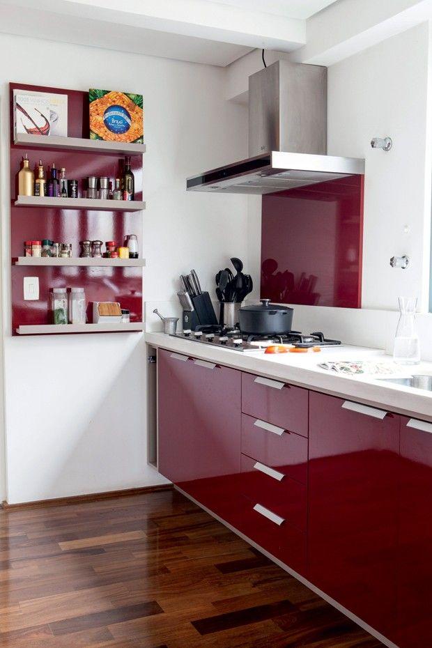die besten 25 cozinha vermelha e branca ideen auf pinterest decora o cozinha branca e. Black Bedroom Furniture Sets. Home Design Ideas