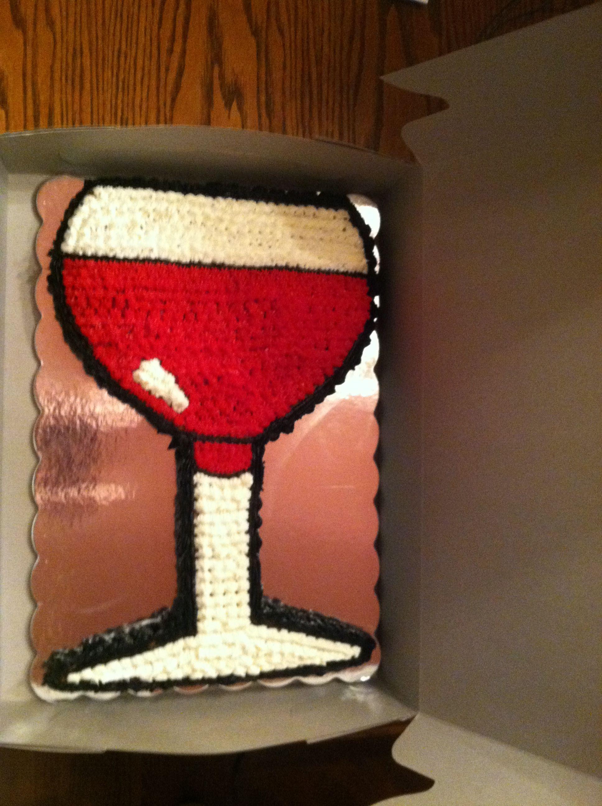 Wine Glass Birthday Cake