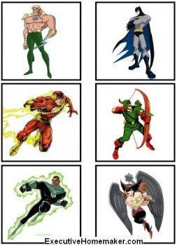 Justice League Memory Justice League Superhero Theme Fun Activities For Preschoolers