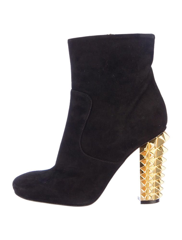 Fendi Studded Heel Booties - Shoes - FEN22684 | The RealReal ...