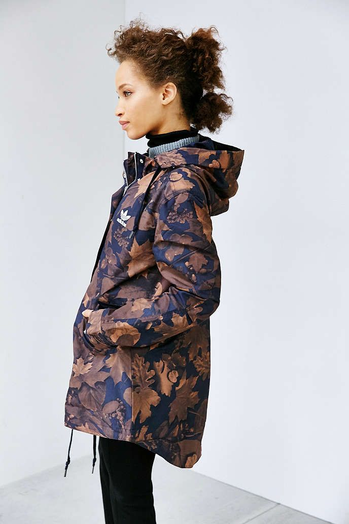 543c29523cf9 adidas Originals Leaf Camo Parka Jacket - Urban Outfitters