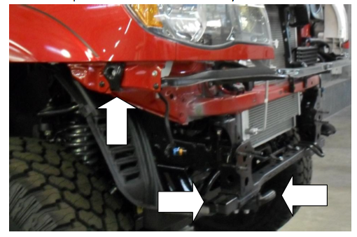 Here's an easy look at front bumper install on a Toyota