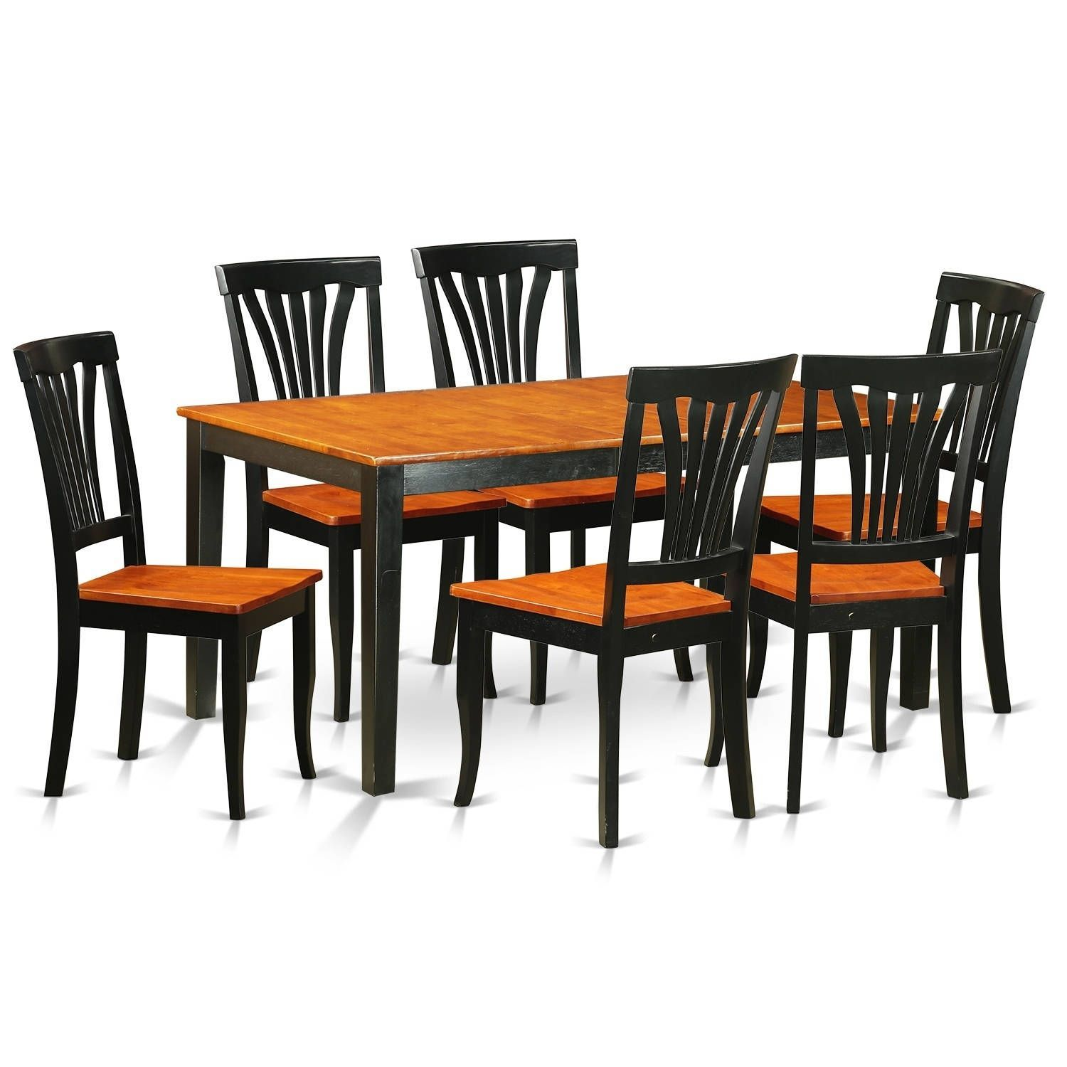 niav7 bch 7 pc kitchen table set dining table and 6 chairs faux