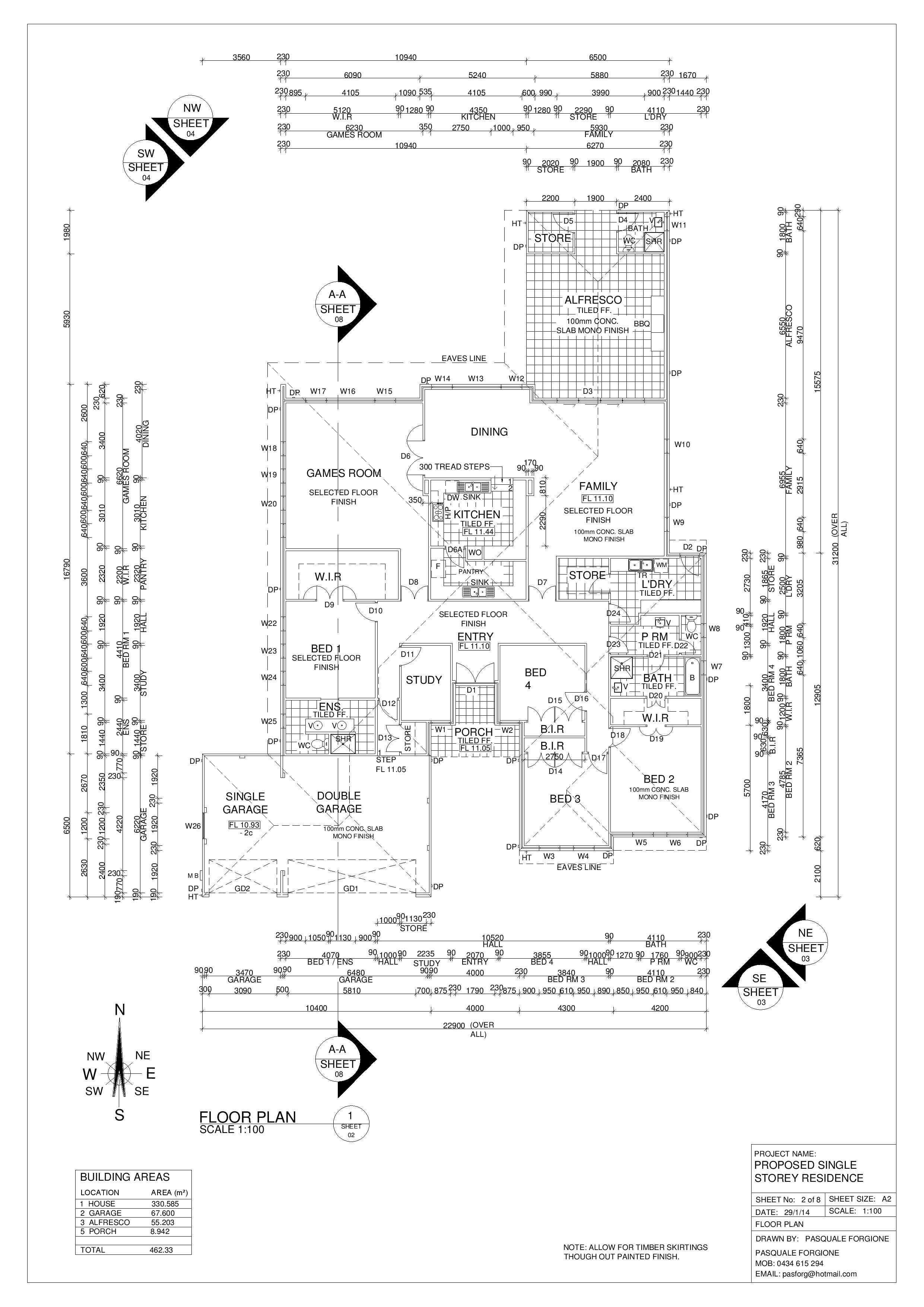 double brick single storey house floor plan dom house pinterest