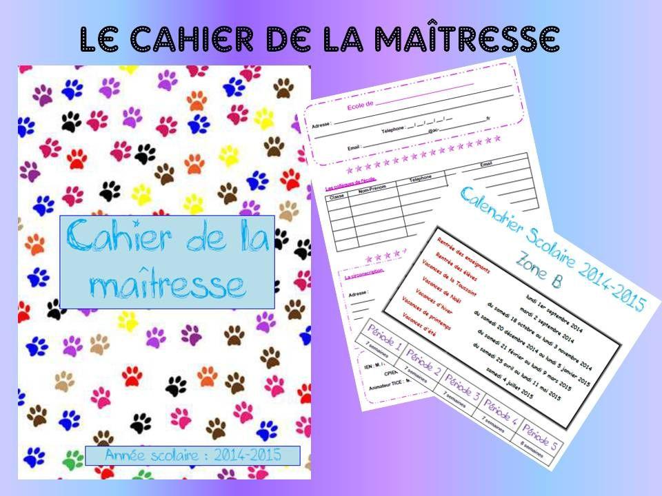 Cahier de la maîtresse - LocaZil