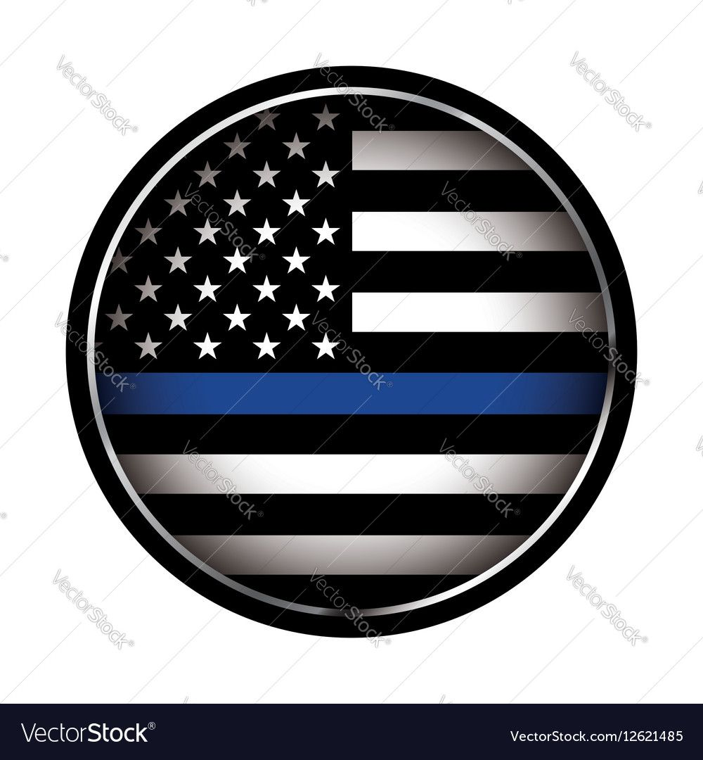 An American Flag Icon Law Enforcement Support Flag Eps 10 Available Download A Free Preview Or High Quality Adobe I Thin Blue Line Flag Flag Vector Flag Icon