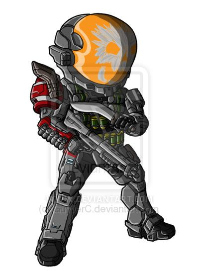 how to draw a halo spartan