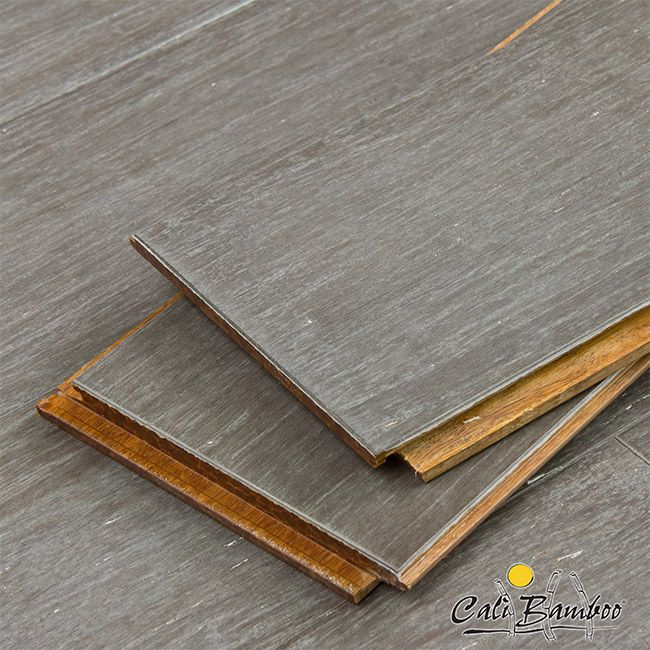 Cali Bamboo Vintage Eclipse Wide Plank Fossilized™ Bamboo Grey Flooring