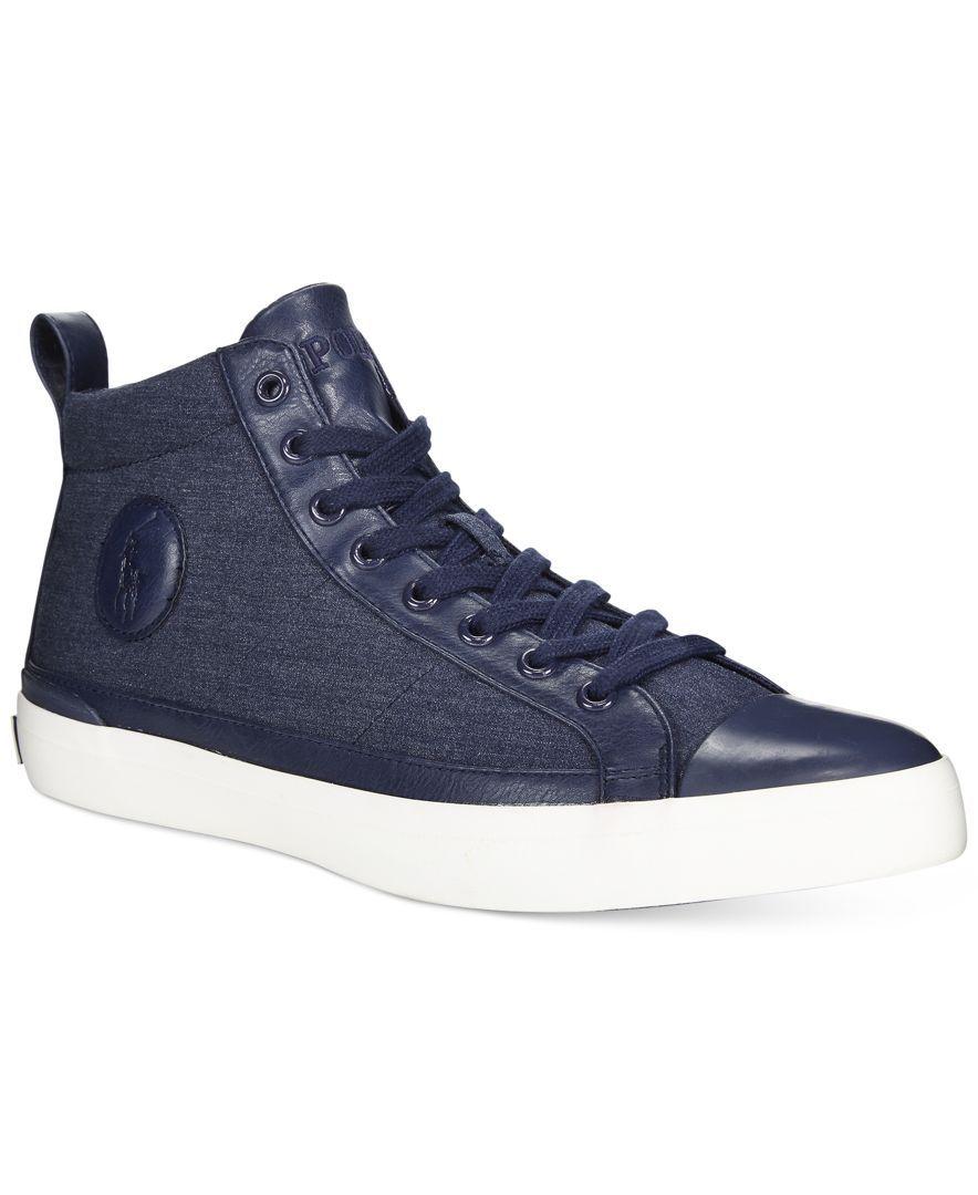 Polo Ralph Lauren Clarke Hi-Top Sneakers - All Men\u0027s Shoes - Men - Macy\u0027s