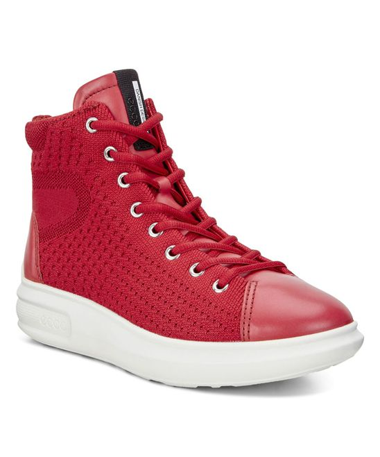 Chili Red Soft 3 Leather Hi-Top Sneaker