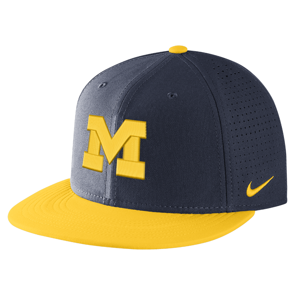 67884d1ac61 Nike College AeroBill True (Michigan) Adjustable Hat (Blue ...