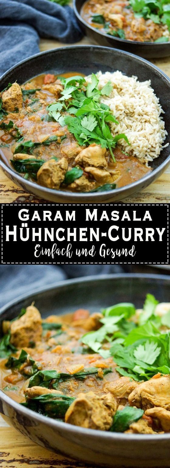 Garam Masala Chicken Curry mit Spinat   - LOW.... -
