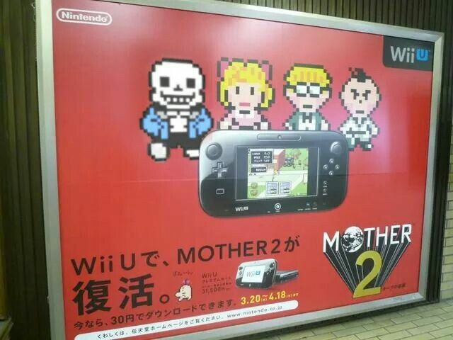 Sans In Earthbound Mother 2 Advertisement Funny Nerd
