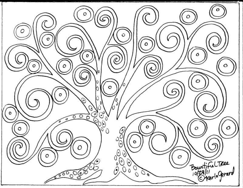 Patrón de papel manualidades de gancho de Alfombra árbol abstracto ...