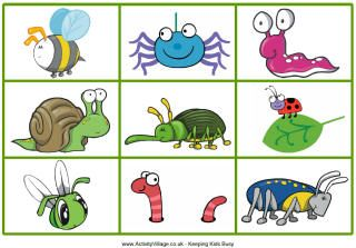 c73d20c54340a7 minibeasts matching game printable children - Bing Images | School ...
