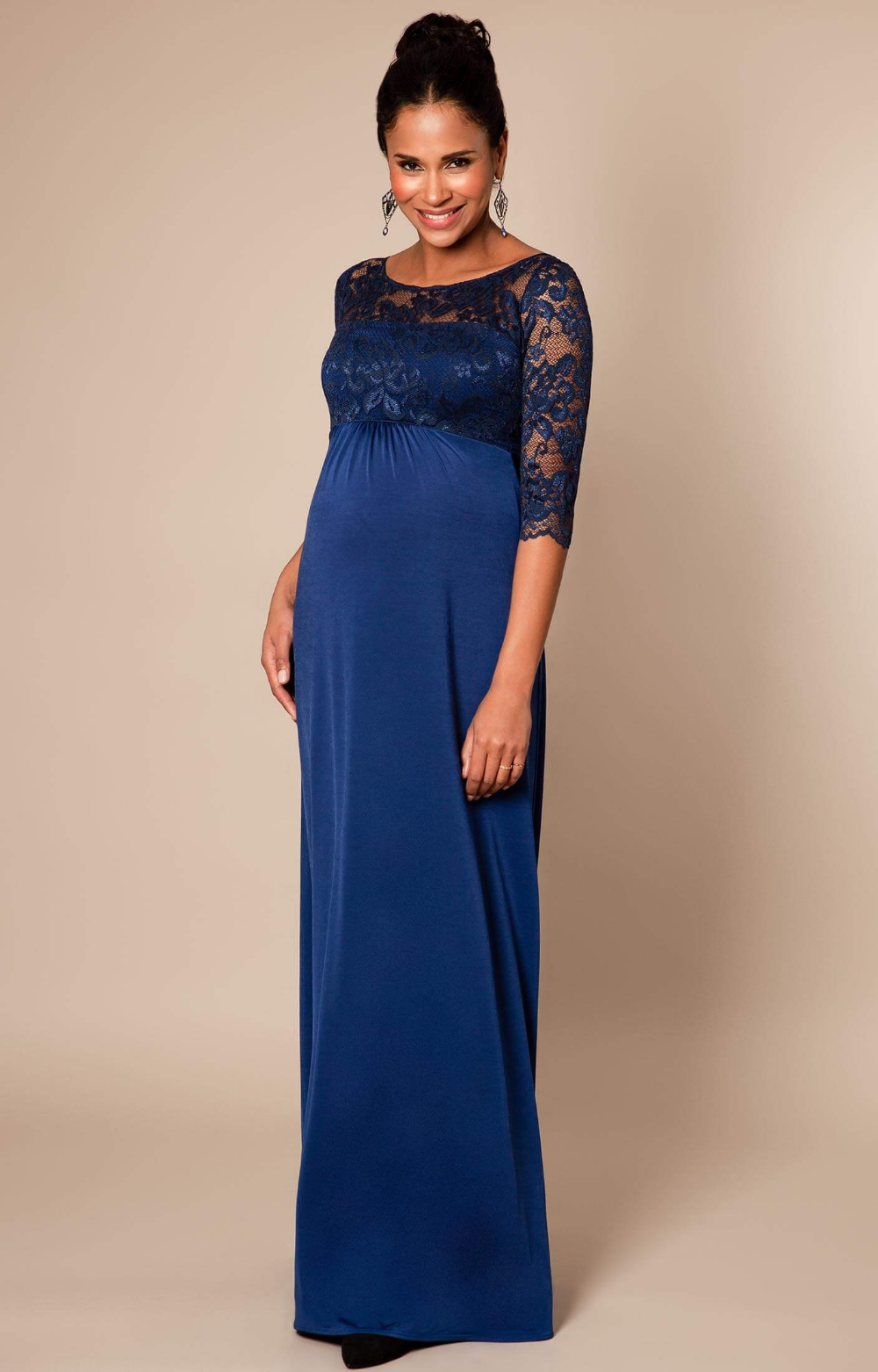 Lucia Maternity Gown Long Imperial Blue – Maternity Wedding Dresses, Evening Wear and Party Clothes by Tiffany Rose
