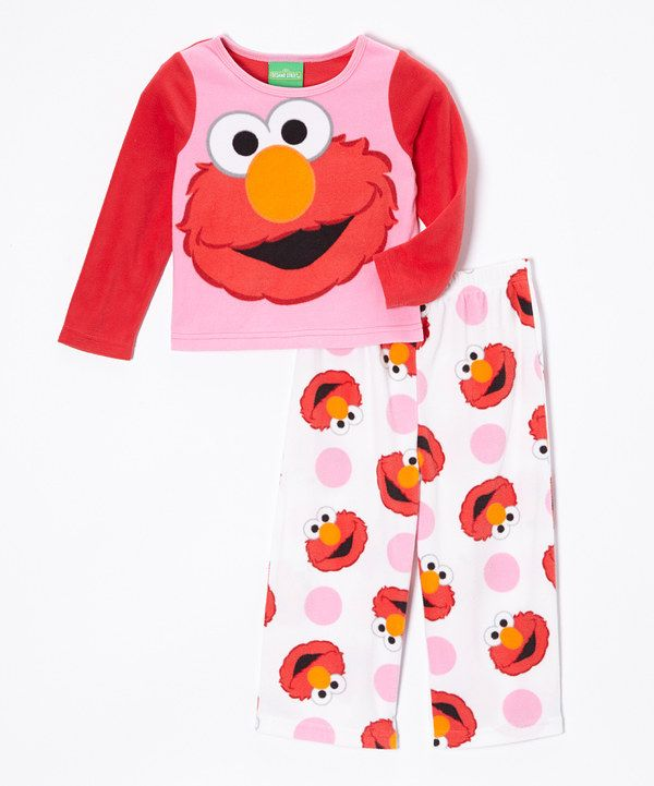9fc809e577 Look at this Sesame Street Pink Elmo Pajama Set - Toddler