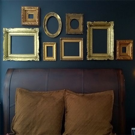 Diy Wall Decor Empty Picture Frames As Wall Art Frames On Wall
