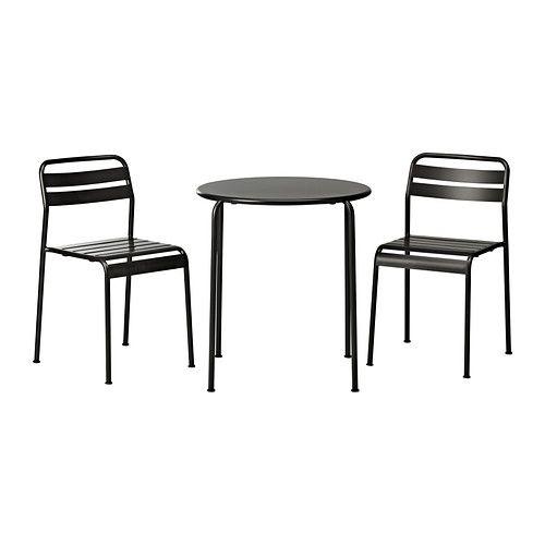 ROXÖ Tisch und 2 Stühle IKEA Lässt sich leicht sauber halten ...