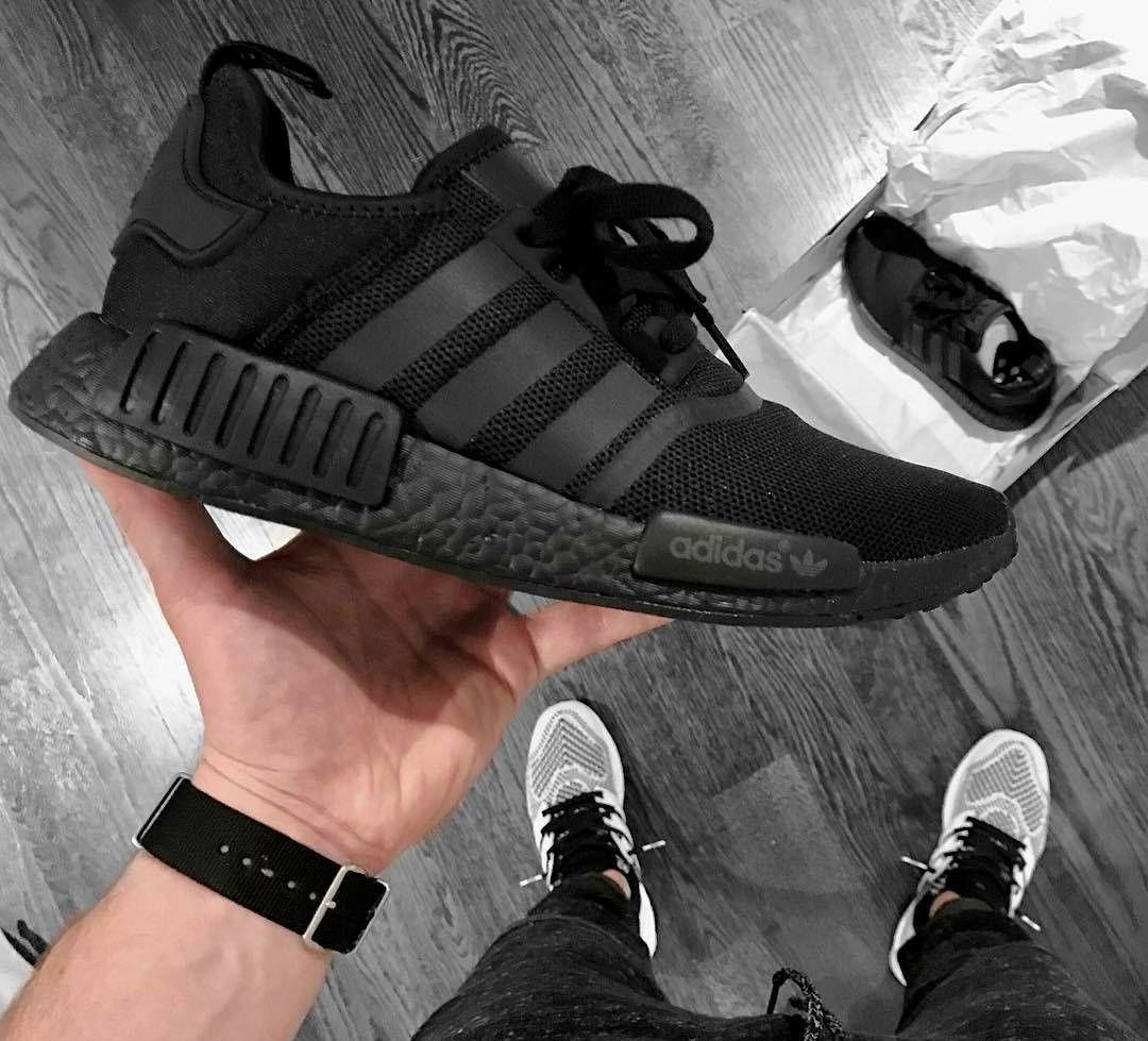 Adidas Nmd R1 X Triple Black Shitsmint Adidas Nmd Black Adidas Fashion