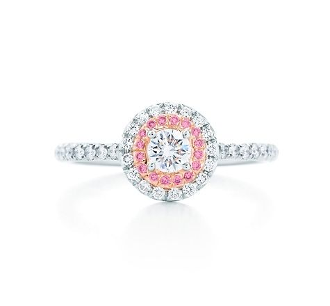 682a790b0 Tiffany & Co. | Item | Tiffany Soleste ring in platinum and rose gold with  Fancy Vivid Pink diamonds. | United States