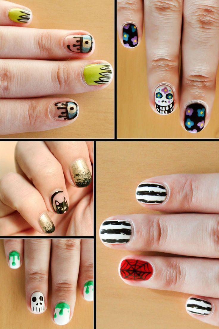 Para entrar na brincadeira de #Halloween! #nails #nailart | Nails ...