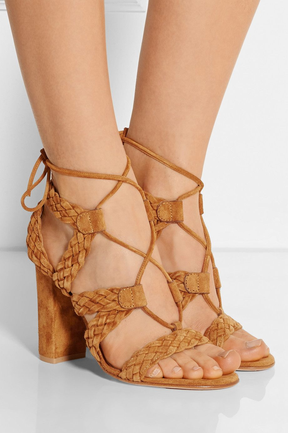 Gianvito Rossi Suede Woven Sandals best place to buy affordable online footaction sale online best store to get cheap online cheap discount nIB1MDVg6h
