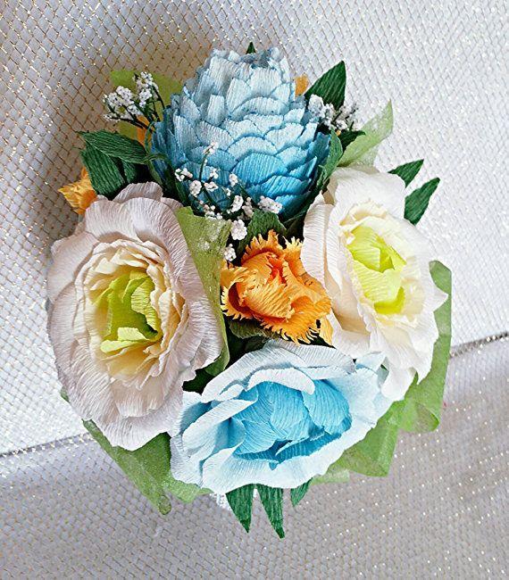 Paper flower Bouquet/Get well Soon/Paper by WeddingArtFlowers | Felt ...