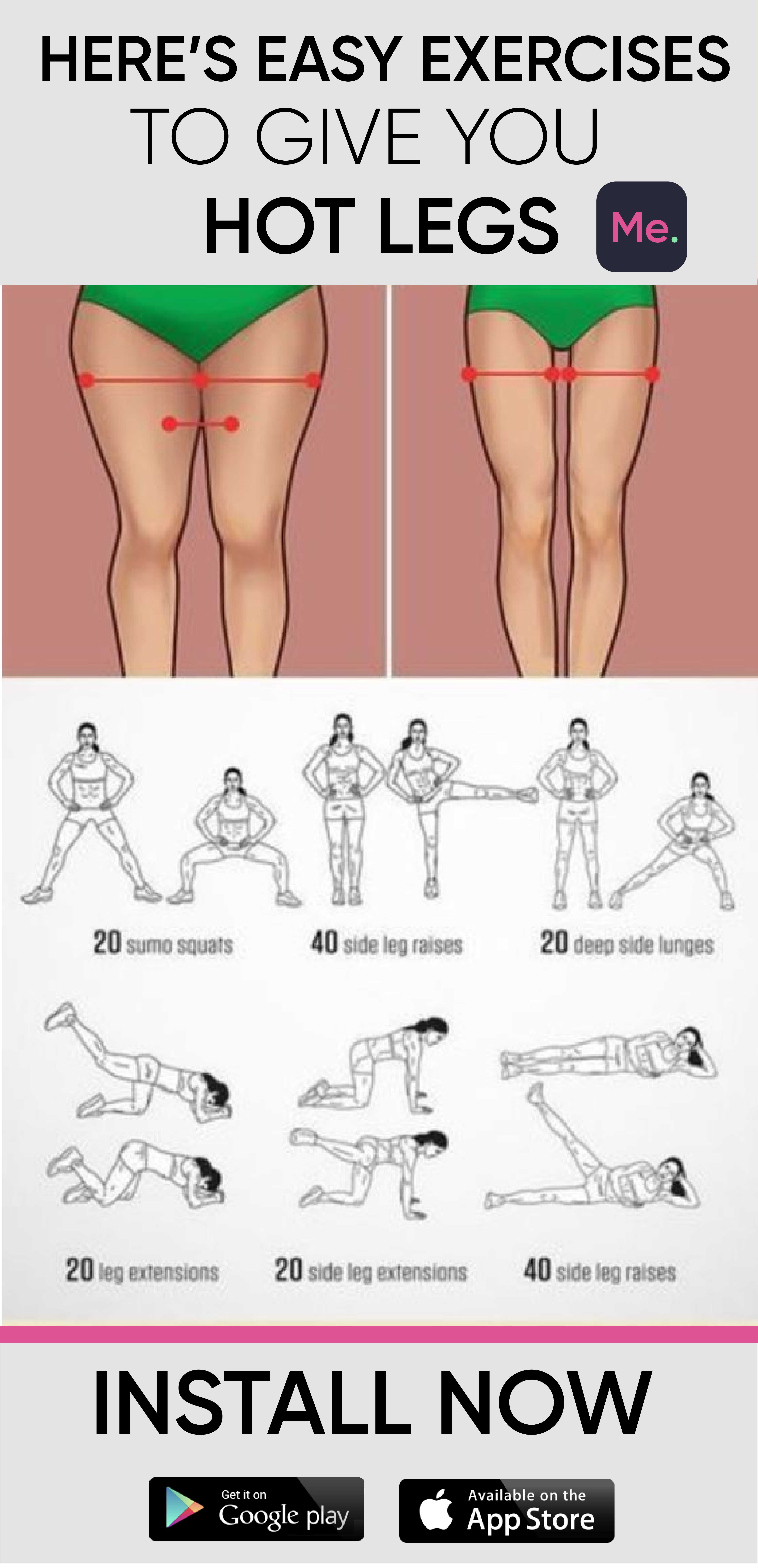 Easy Exercises To Get Hot Legs #fitnessexercises