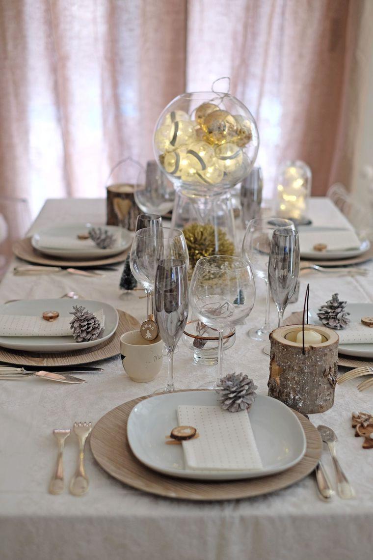 Faire une table de no l chic et simple christmas table de no l decoration table de noel et - Idee table de noel ...