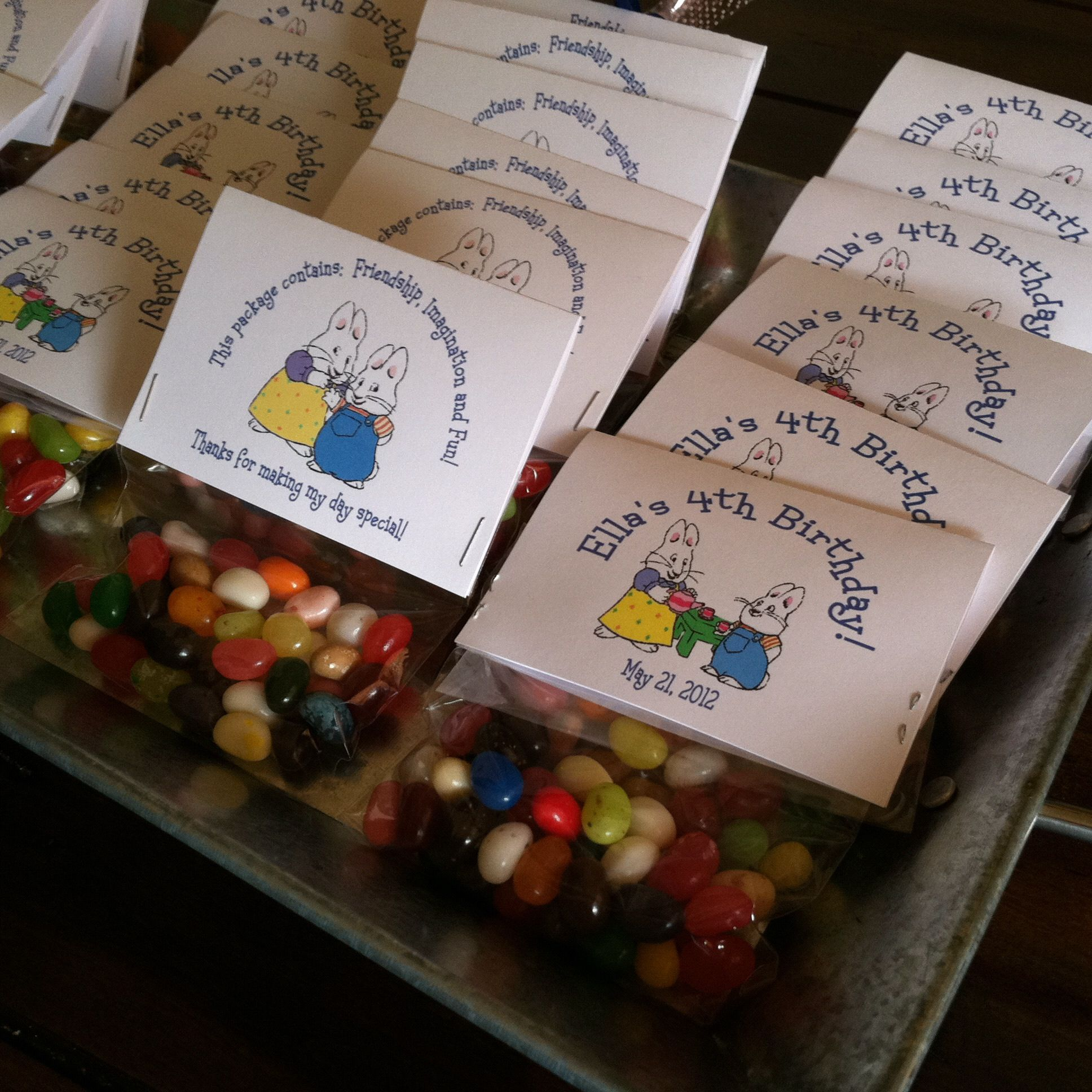 Party Jelly Ideas: Max & Ruby Party Jelly Bean Favors