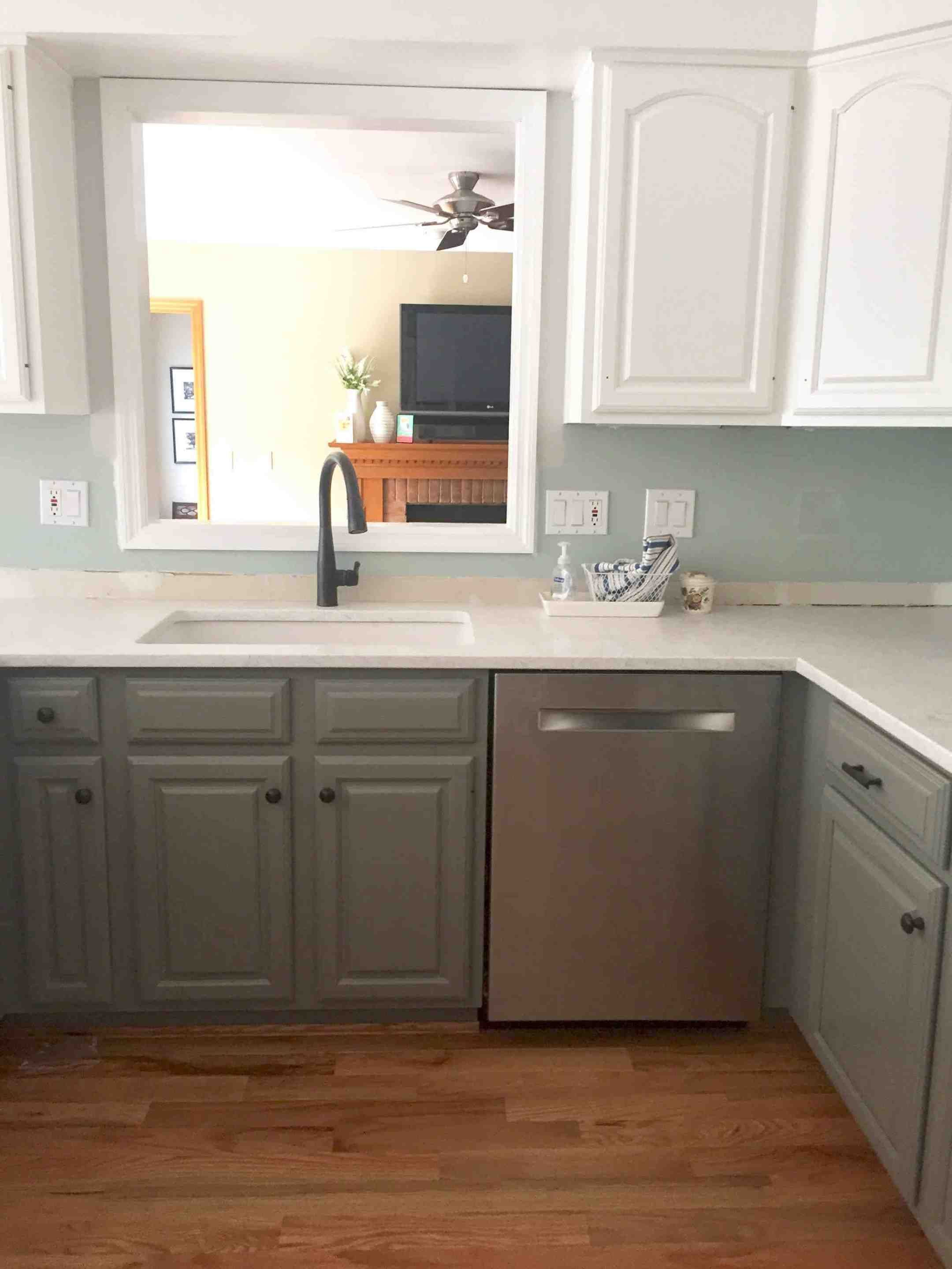 simply white and chelsea gray kitchen in 2020 with images kitchen remodel small kitchen on kitchen cabinets grey and white id=21981